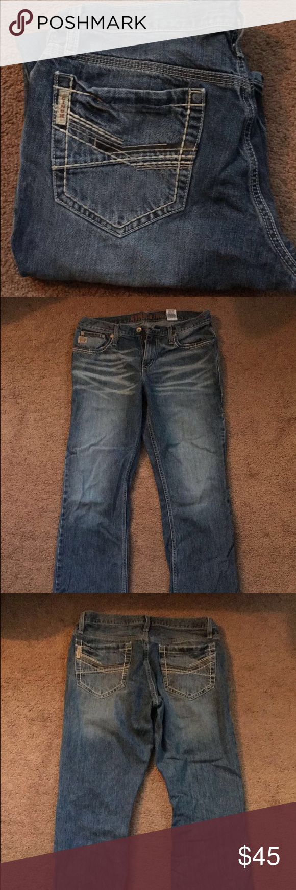 Mens Cinch Jeans Men's Cinch jeans! In excellent condition! Look like they are new! Very sharp looking jean. Size 32/36. Asking $45. Cinch Jeans Bootcut
