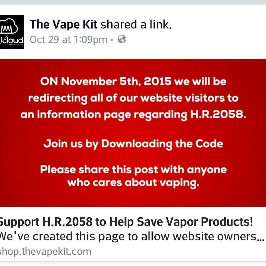 Going down tomorrow. Head over to http://bit.ly/1XPJSOB  for information on why we're doing this and how you can join us. #Downloadthecode #thevapekit #coilandcloud #buildanywhere #vapeporn #calivapers #vapehooligans #vape