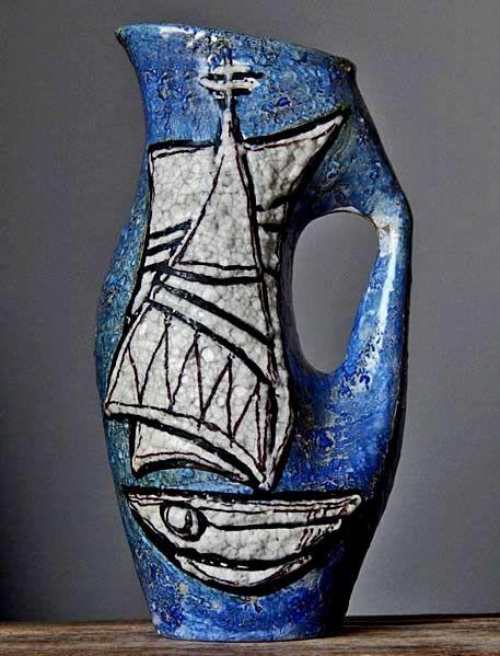 Vintage 60-70\'s Titano San Marino Vase Pitcher Italian Pottery Art ...