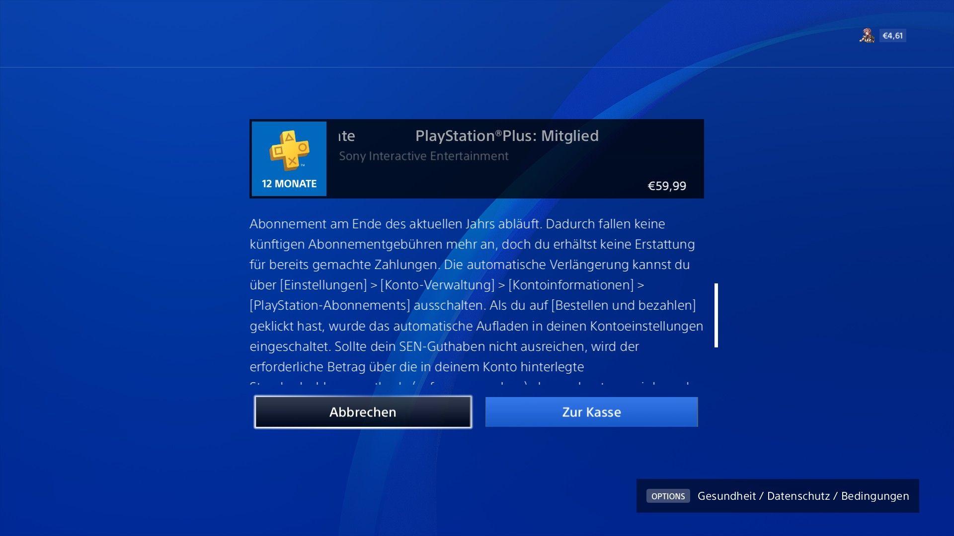 Ps 12monate Kontoeinstellungen Playstation Abziehen