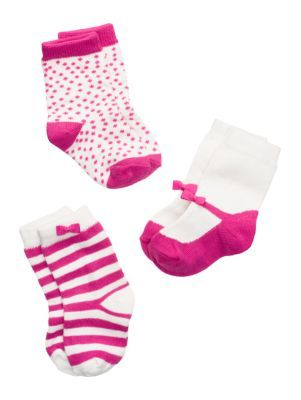 layette three-pack sock set - kate spade new york
