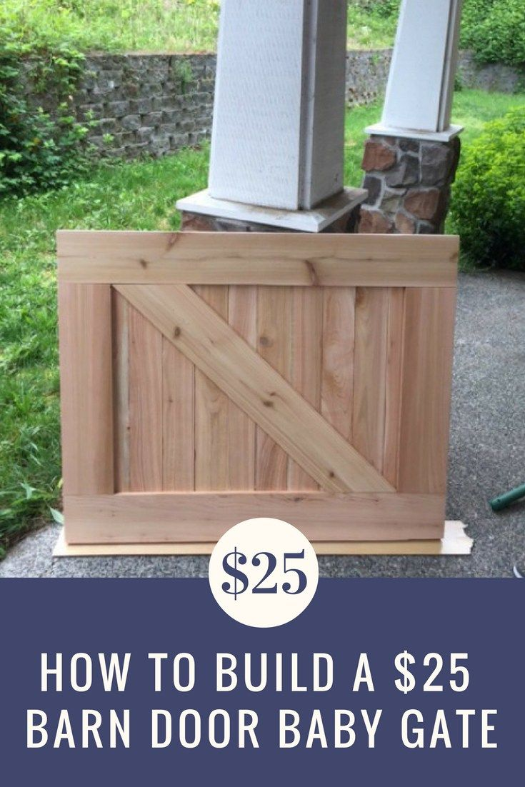 How To Make A 25 Barn Door Baby Gate Barn Door Baby