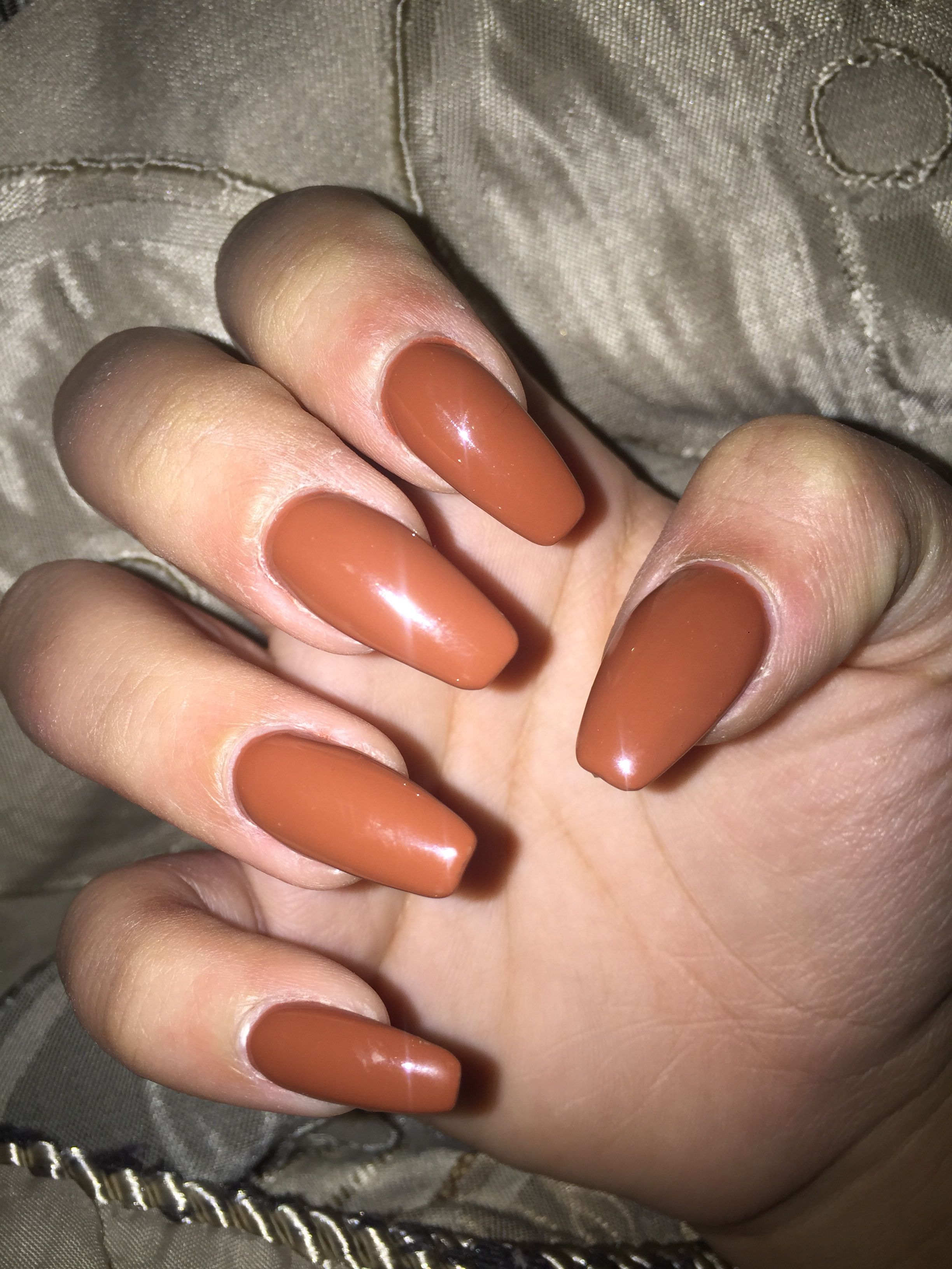 Beautiful caramel coffin nails | Nails, Nails inspiration, Autumn nails