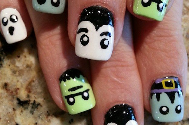 27 delightfully spooky ideas for halloween nail art - Halloween Easy Nail Art