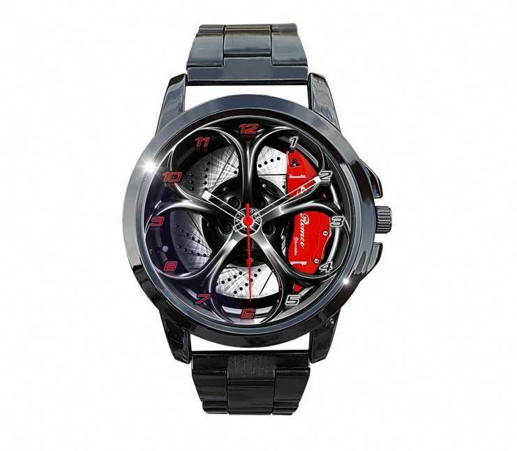 Alfa Romeo Giulia QV Wheel Burnished Steel Watch