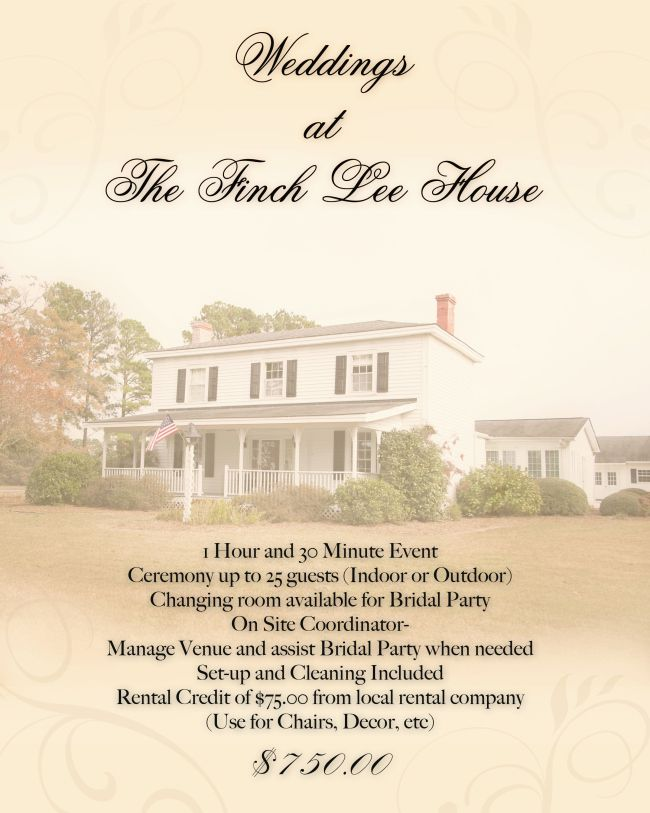 finch lee house new wedding venue in clayton nc
