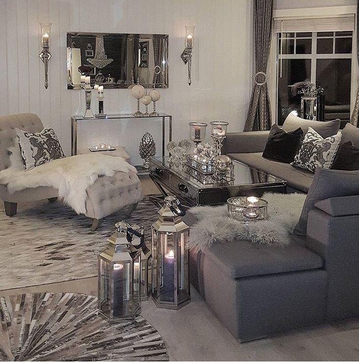 Living Room Decor Gray, Silver Living Room