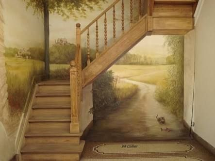 resultado de imagem para trompe loeil mural interieur