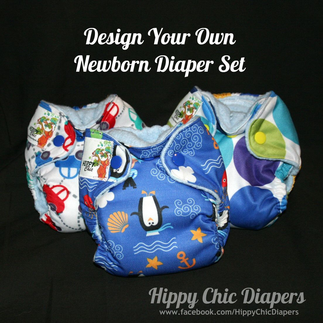 Newborn//XS and Small You pick the print! AIO Cloth Diaper