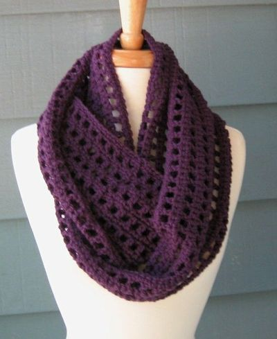 Free Pattern Artfully Simple Infinity Scarf Crochet Pinterest