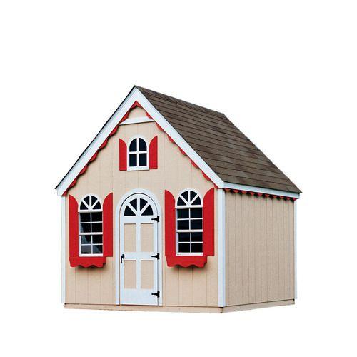 Cobblestone Cottage 8-ft x 8-ft Wood Storage Shed $1500
