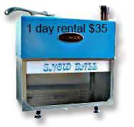 Ice machine rental shaved
