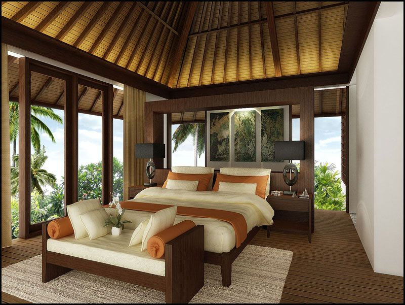 Balinese interior design bedroom ungasan villas for Decor zone homes