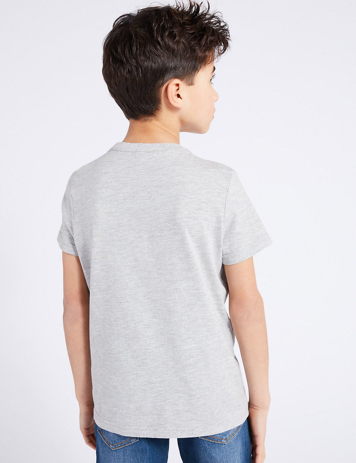 Cotton TShirt with Pocket (316 Yrs) M&S in 2020