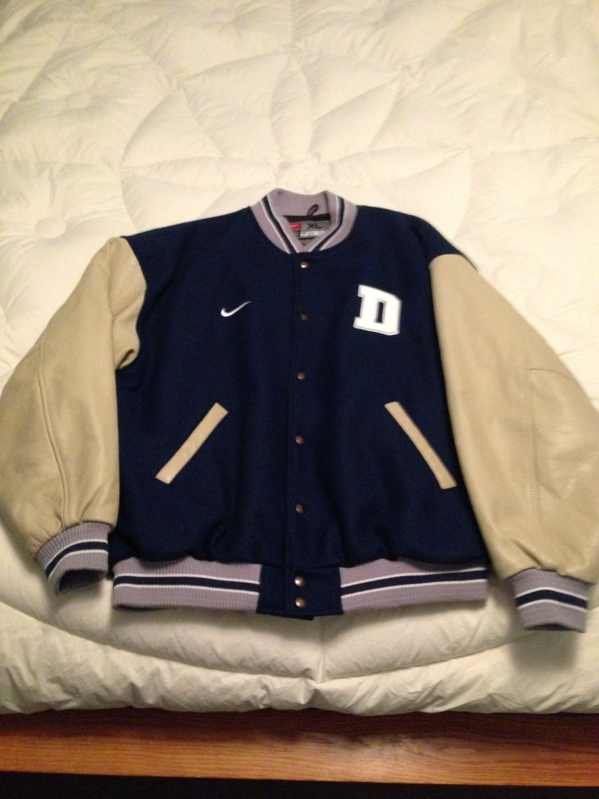 aa41bb41d Dallas Cowboys Nike Leather Varsity Jacket XL