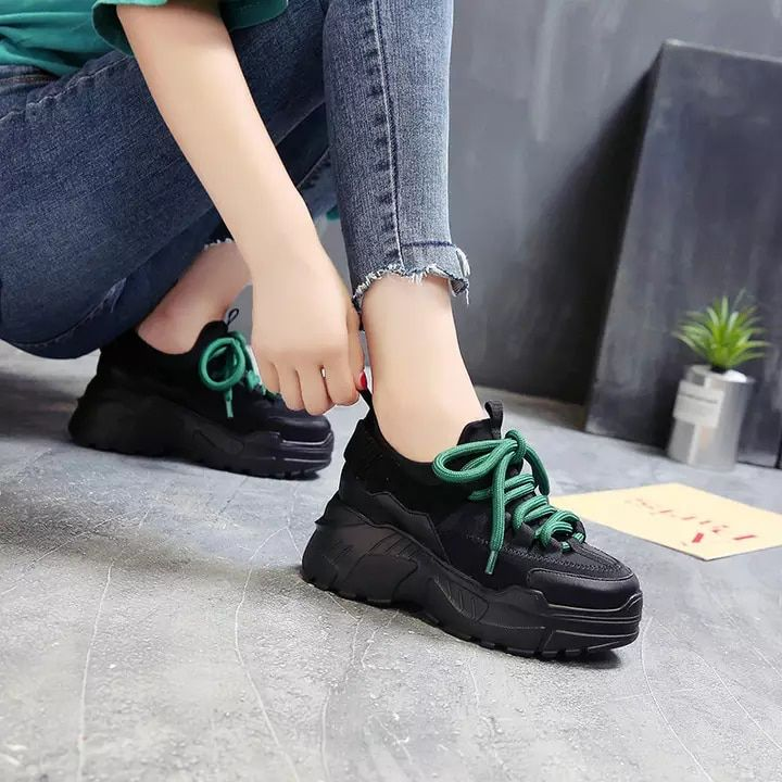 afe92c0fa5 US $9.58 31% Off | Stylish High Platform Shoes 8CM 2019 Spring Autumn  Lightweight Design Ladies Shoes Black Casual Shoes Women Sneakers Flats  Tenis