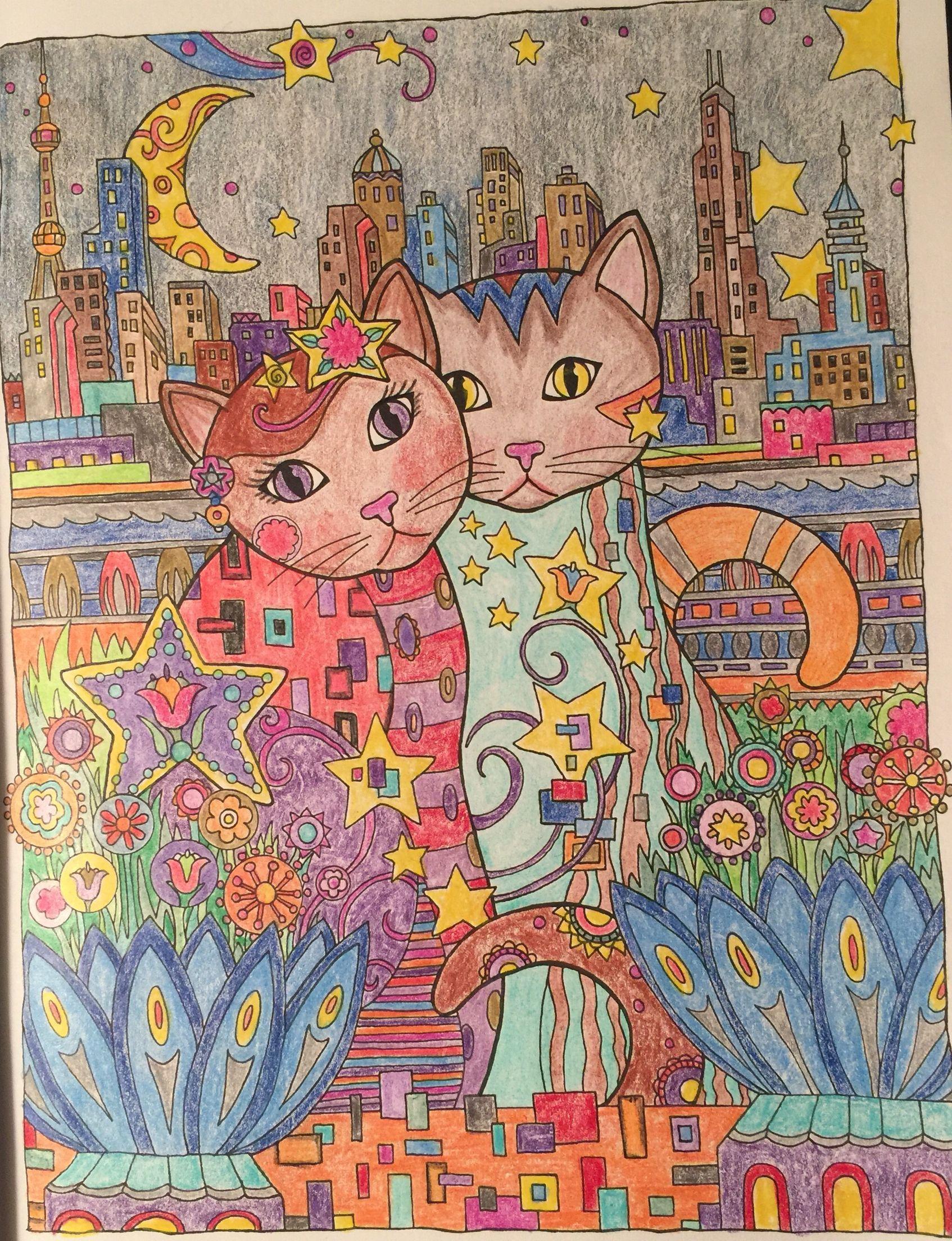 Zen cat coloring page - Creative Cats By Marjorie Sarnat