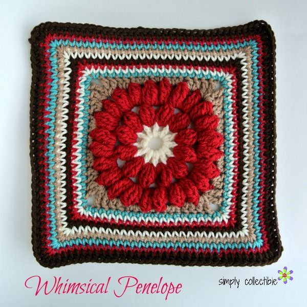 You will love this simple and beautiful, free 12 inch square crochet ...