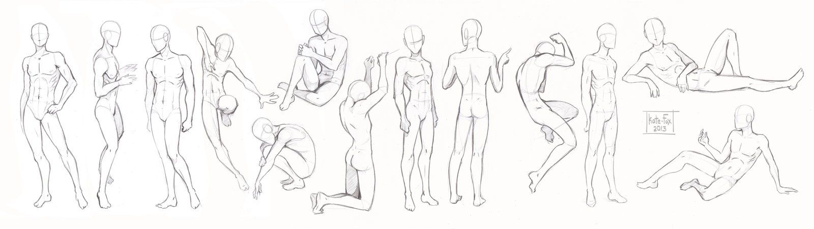 Pose study2 by Kate-FoX.deviantart.com on @deviantART | Poses ...