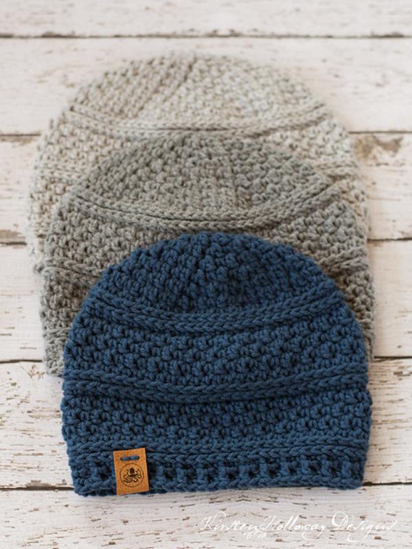 Photo of Einfache Seed Stitch Mütze Free Crochet Pattern