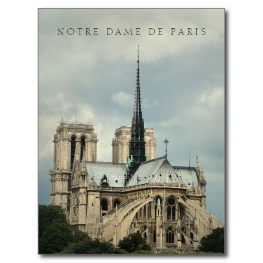 South-east view from the Seine river of catholic Notre Dame Cathedral in Paris, France, one of the finest example of French Gothic architecture. <br> Fine art color photography with muted vintage tones.