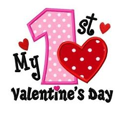 My 1st Valentine's Day Applique - 3 Sizes! | What's New | Machine Embroidery Designs | SWAKembroidery.com Dollar Applique