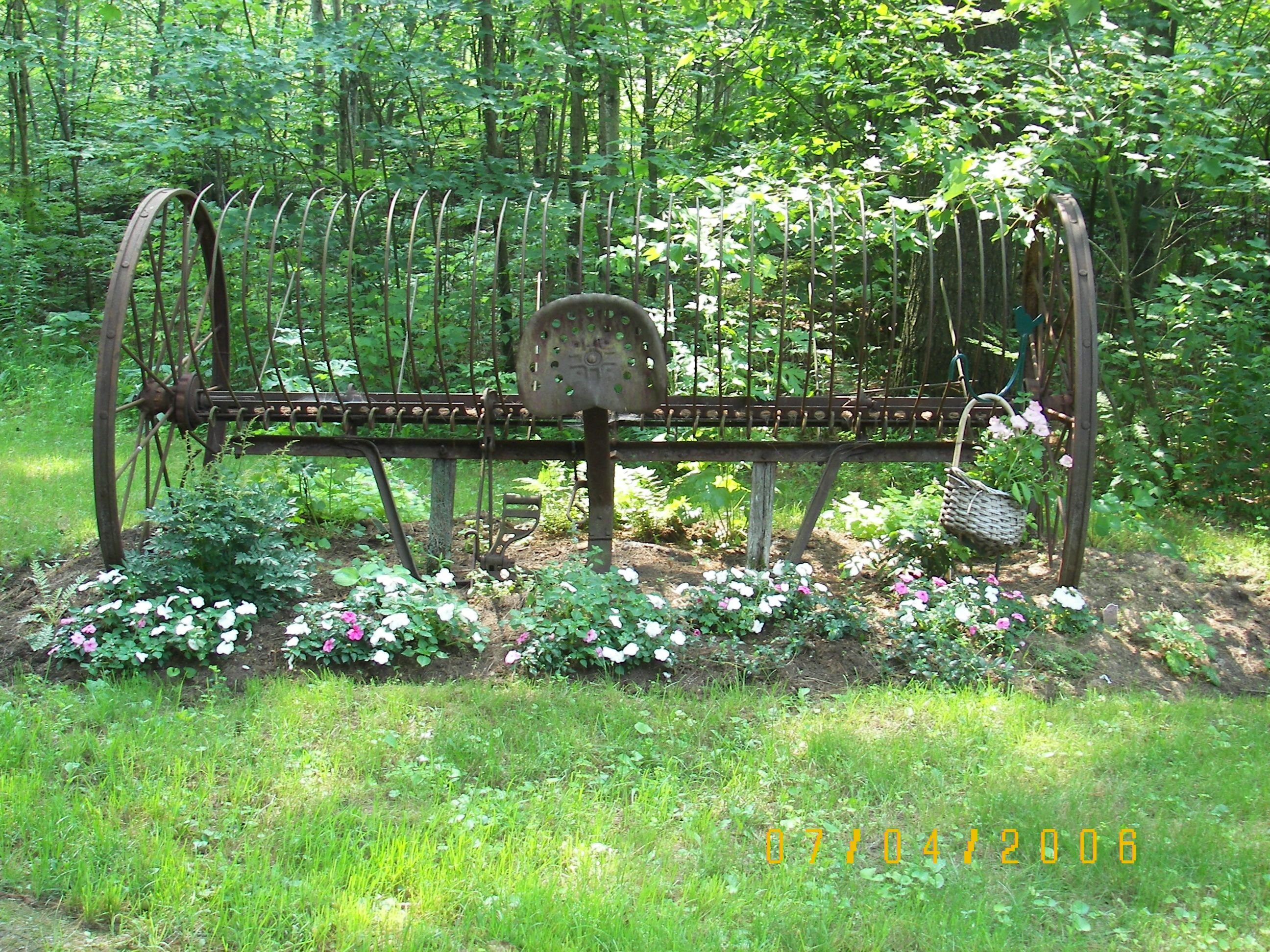 Hay Rake From An Old Friend Antique Landscaping Garden Yard Ideas