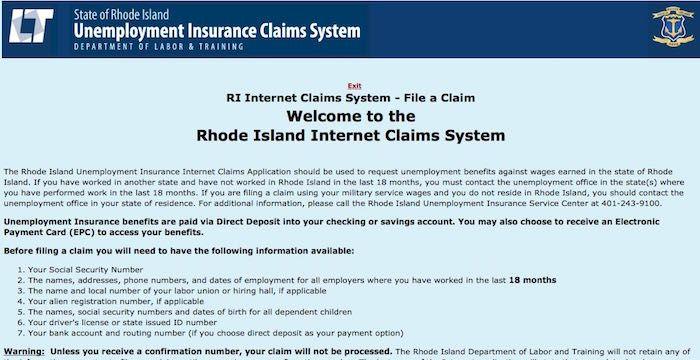 Rhode Island Unemployment Login Dlt Ri Gov Online