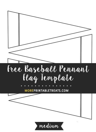 free baseball pennant flag template medium shapes and templates