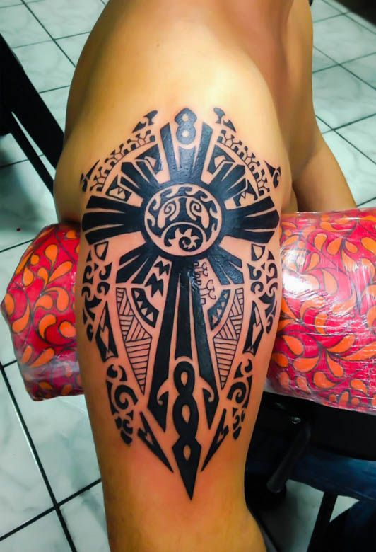 Famosos Good Luck Tattoo Studio - - Maori - Perda de Pai ou Mãe | Cross  CS03