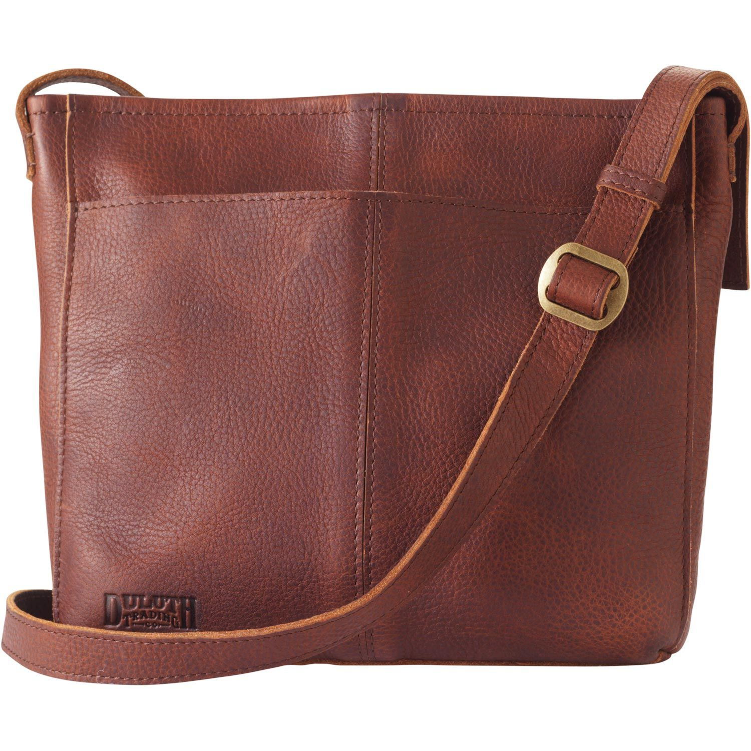 72dd65b1df9 Lifetime Leather Medium Sling Bag is big enough to hold all you need  without toppling you over. The full-grain leather variations makes each bag  unique.