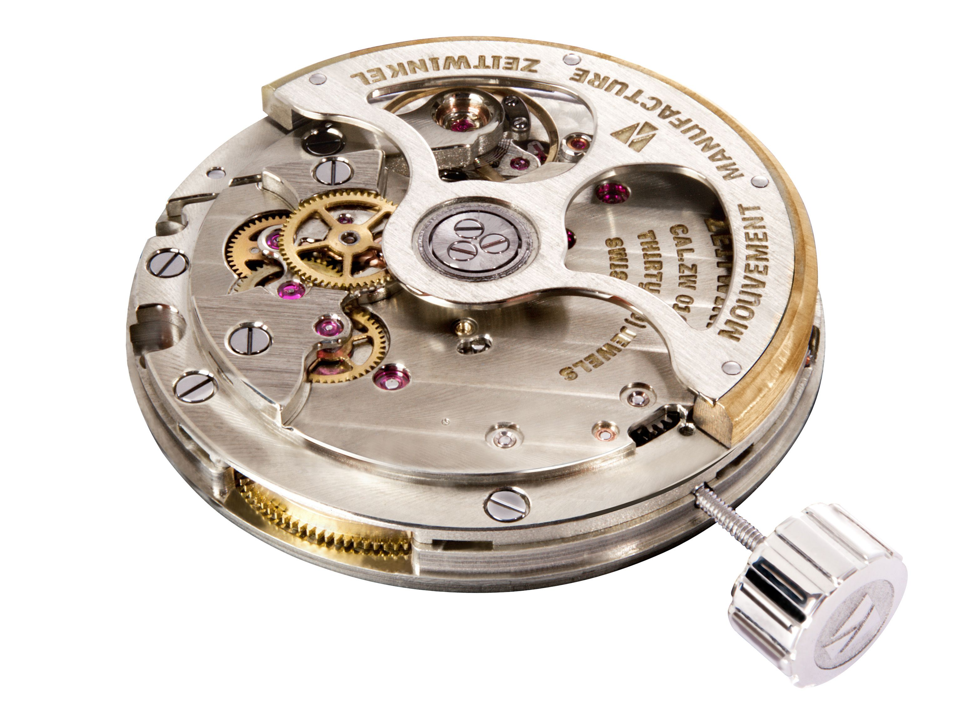 Zeitwinkel's base caliber ZW0102, automatic winding, 13½ lines, 30.40 mm, >72h autonomy, 30Jewels more information @ www.zeitwinkel.ch