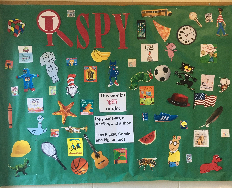 I Spy Library Bulletin Board