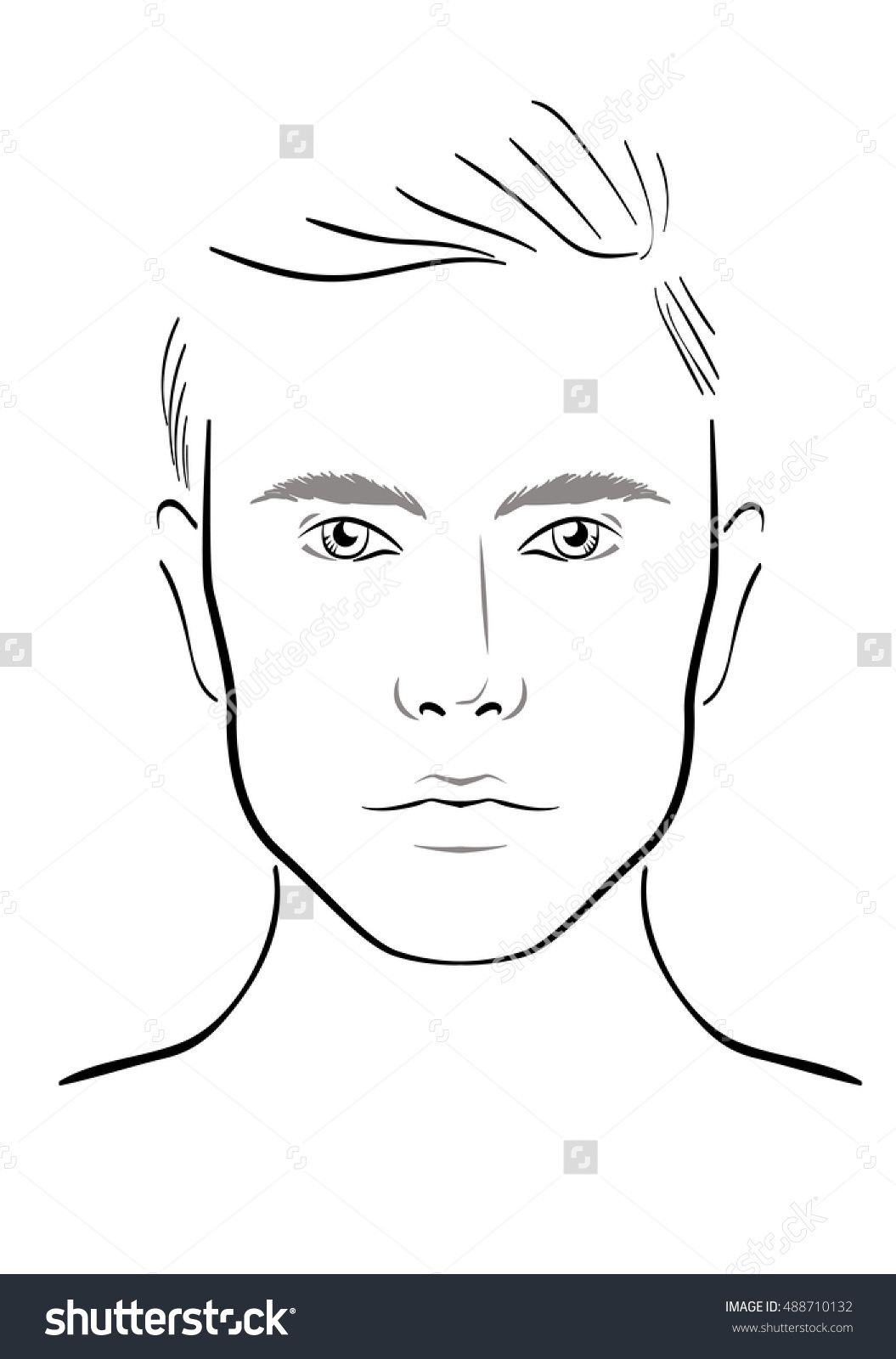 Image Result For Makeup Face Chart Template I Wont Play Maccers