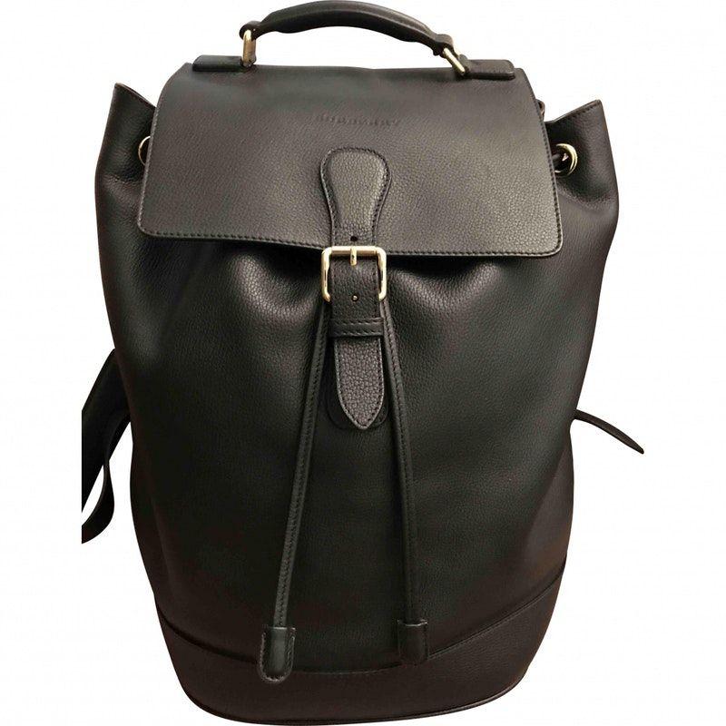 763e8fd13adb black Leather BURBERRY Bag - Vestiaire Collective