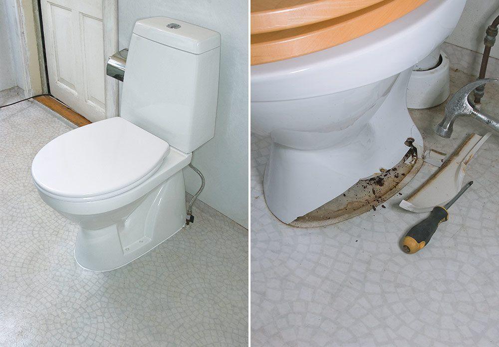 Et nytt toalett kan gjøre underverker på et baderom, og du kan bytte det ut…