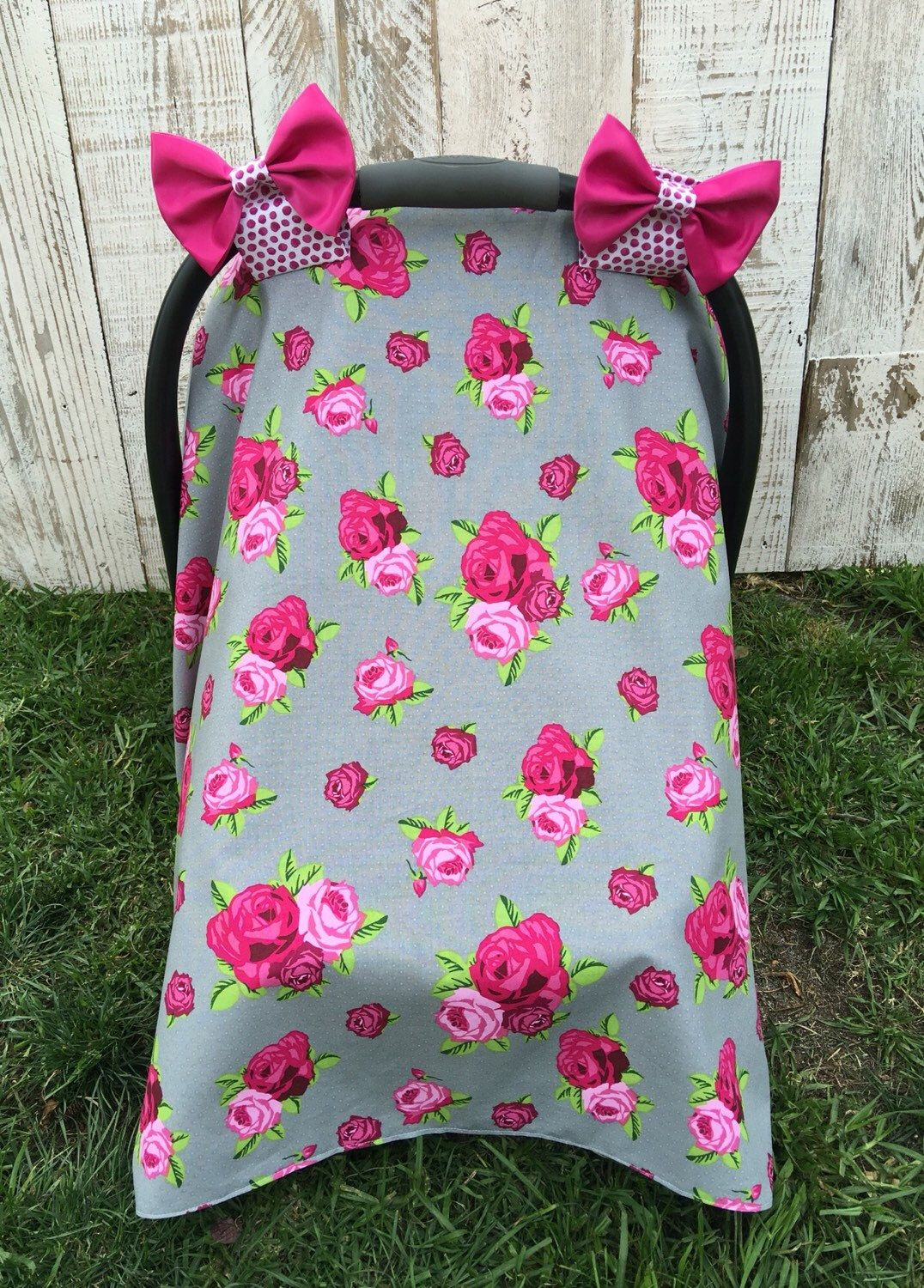 Custom baby girl car seat cover set cottage chic roses car seat car seat canopy car seat cover car seat tent baby girl infant mightylinksfo