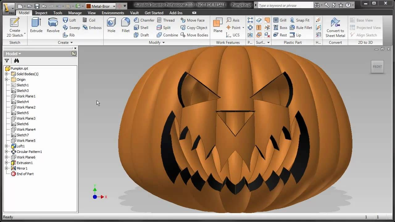 Autodesk Inventor 2010 - Happy Halloween | CAD software