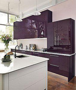 The Most Durable Painted Kitchens Available   Purple ...