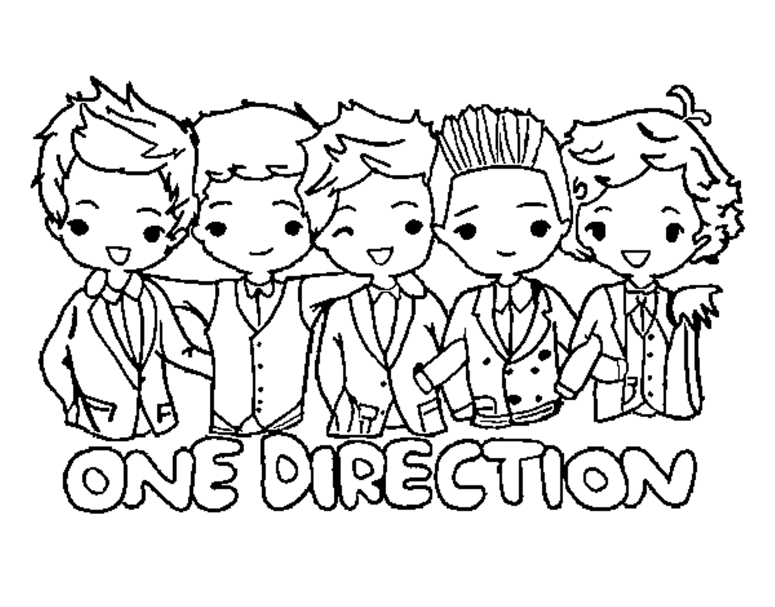 Kleurplaten One Direction Niall.One Direction Logo Coloring Pages Stuff To Make One Direction