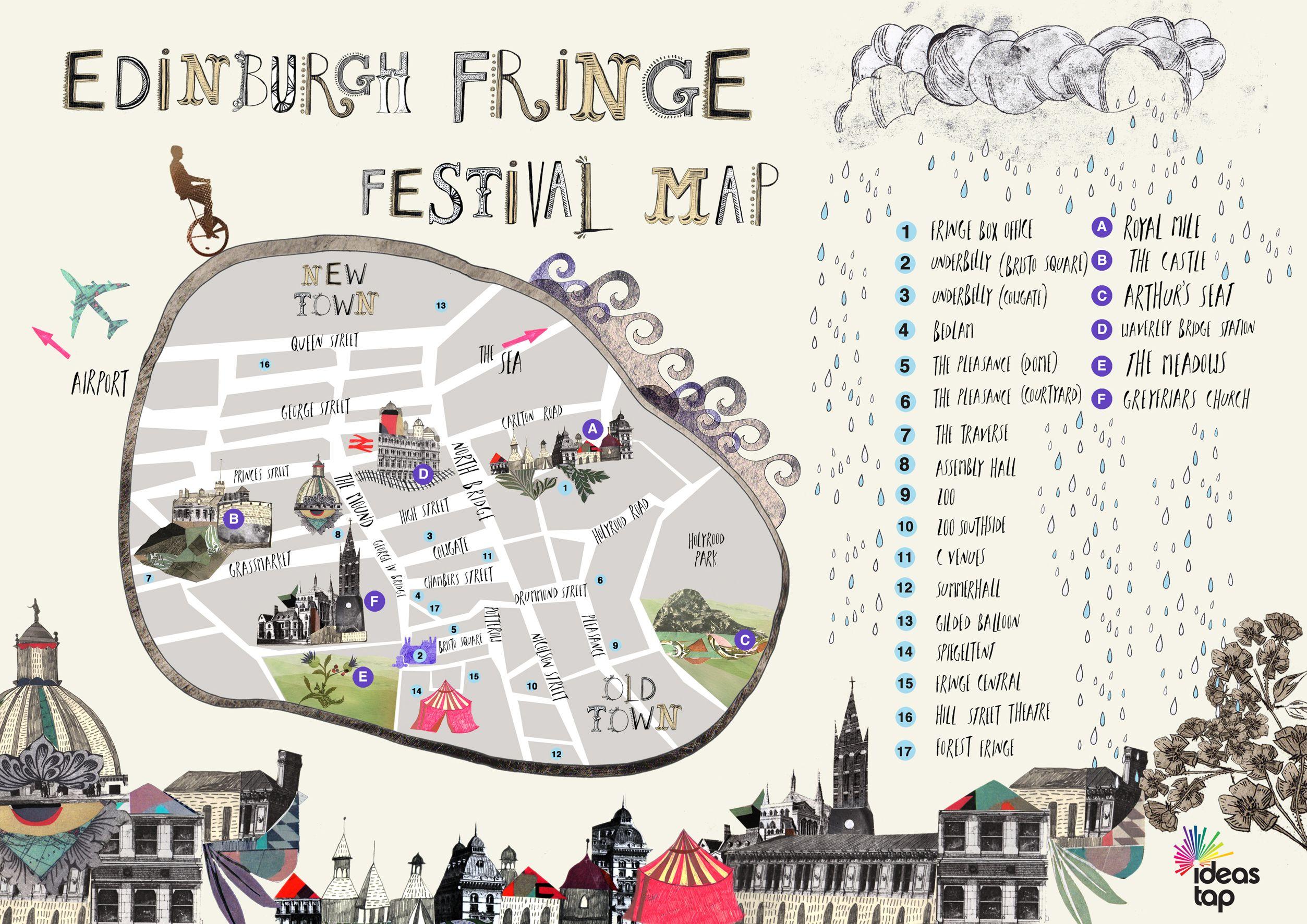 Edinburgh Fringe Map Edinburgh Fringe Fest Map | LSU in the UK & Ireland in 2019 | Map