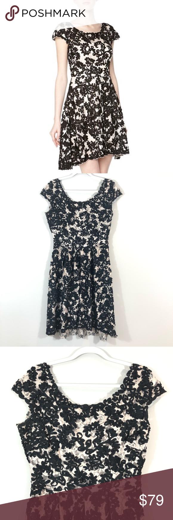 Yoana Baraschi Anthro Black Cream Lace Dress Lace Dress Cream Lace Dress Cream Lace [ 1740 x 580 Pixel ]