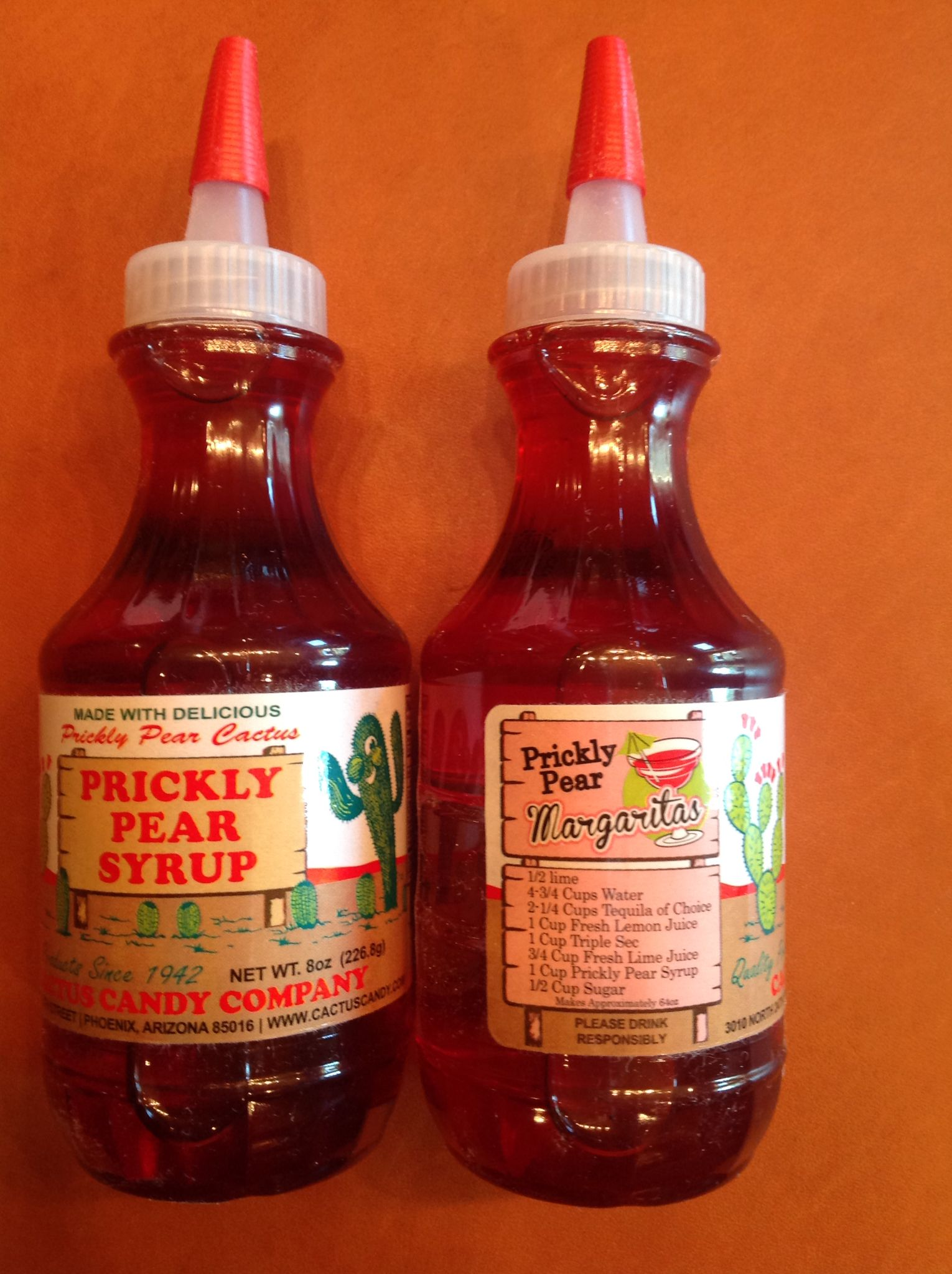 Prickly Pear Syrup From The Cactus Candy Company In Phoenix Recipe For Prickly Pear Margaritas Included On Prickly Pear Margarita Prickly Pear Candy Companies