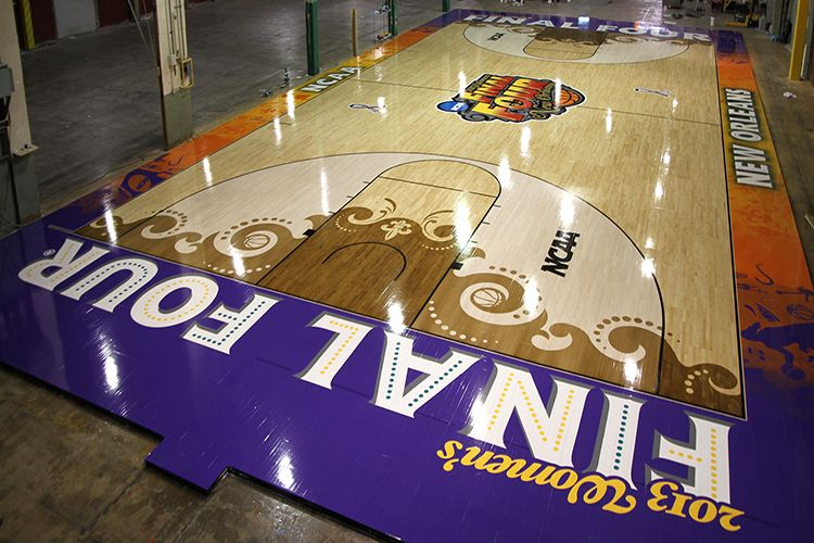 Praters Flooring Unveils Another Work Of Art For The NCAA Womenu0027s Final  Four In New Orleans