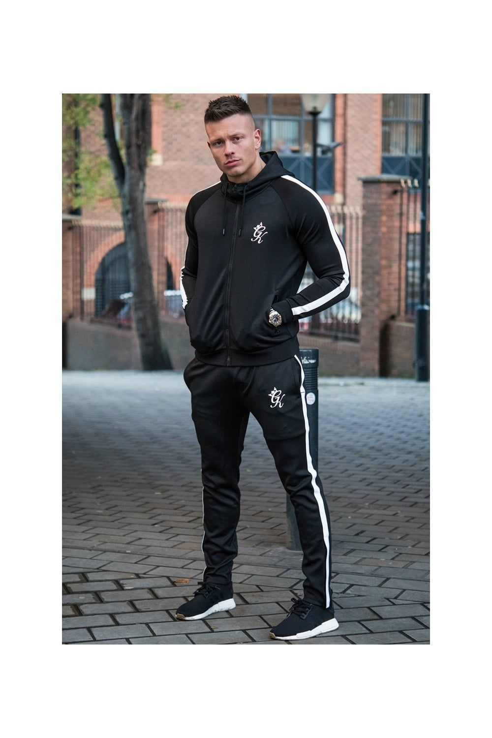 4d36b25039468a Gym King Tapered Poly Tracksuit Hoodie | tracksuits in 2019 | Mens ...