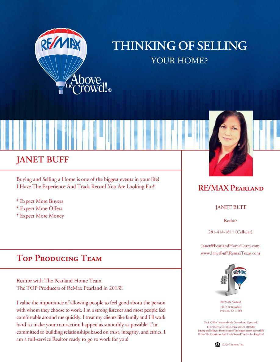 Self Promotion Flyer Real estate information