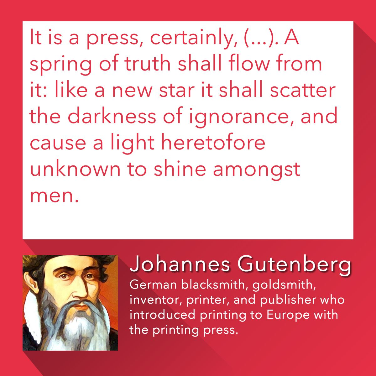 """""""It is a press, certainly, (...). A spring of truth shall ..."""