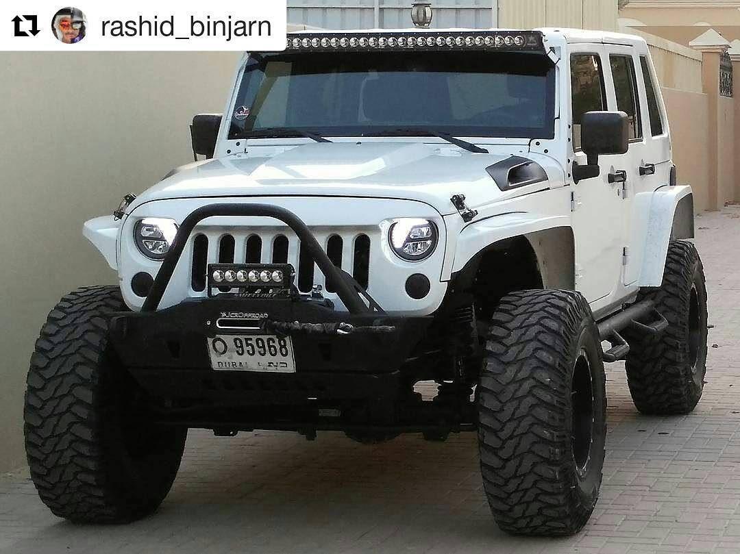 all the way from dubai @rashid_binjarn's white #jku is looking