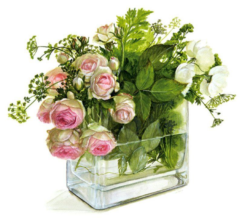 Днем, ваза с поздравлениями