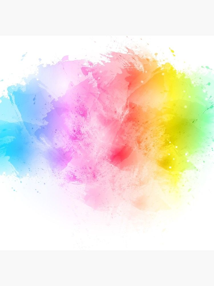 Rainbow Abstract Artistic Watercolor Splash Background Canvas